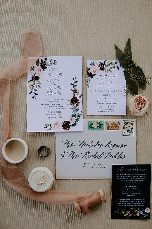 shadow creek wedding invitations
