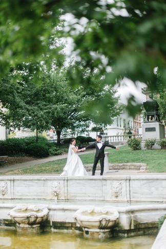 Peabody Library Wedding