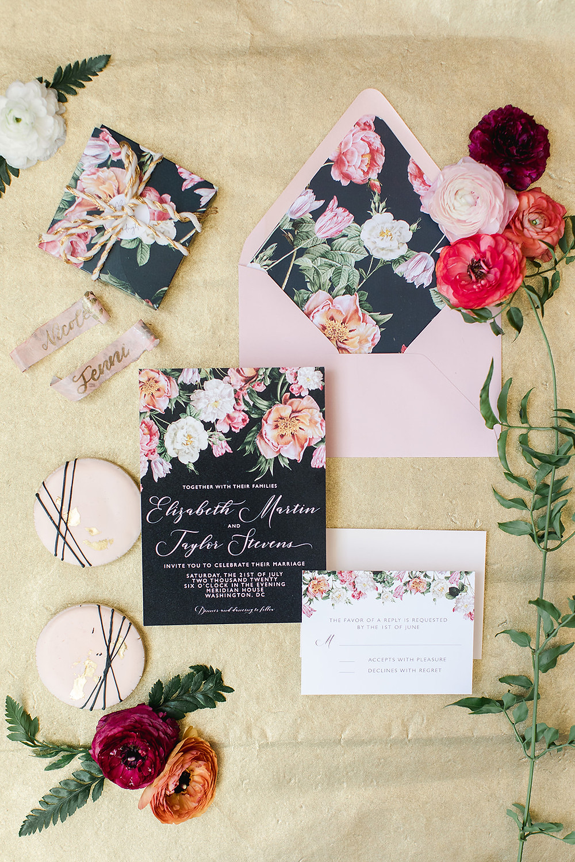 Dutch Masters Floral Invitation