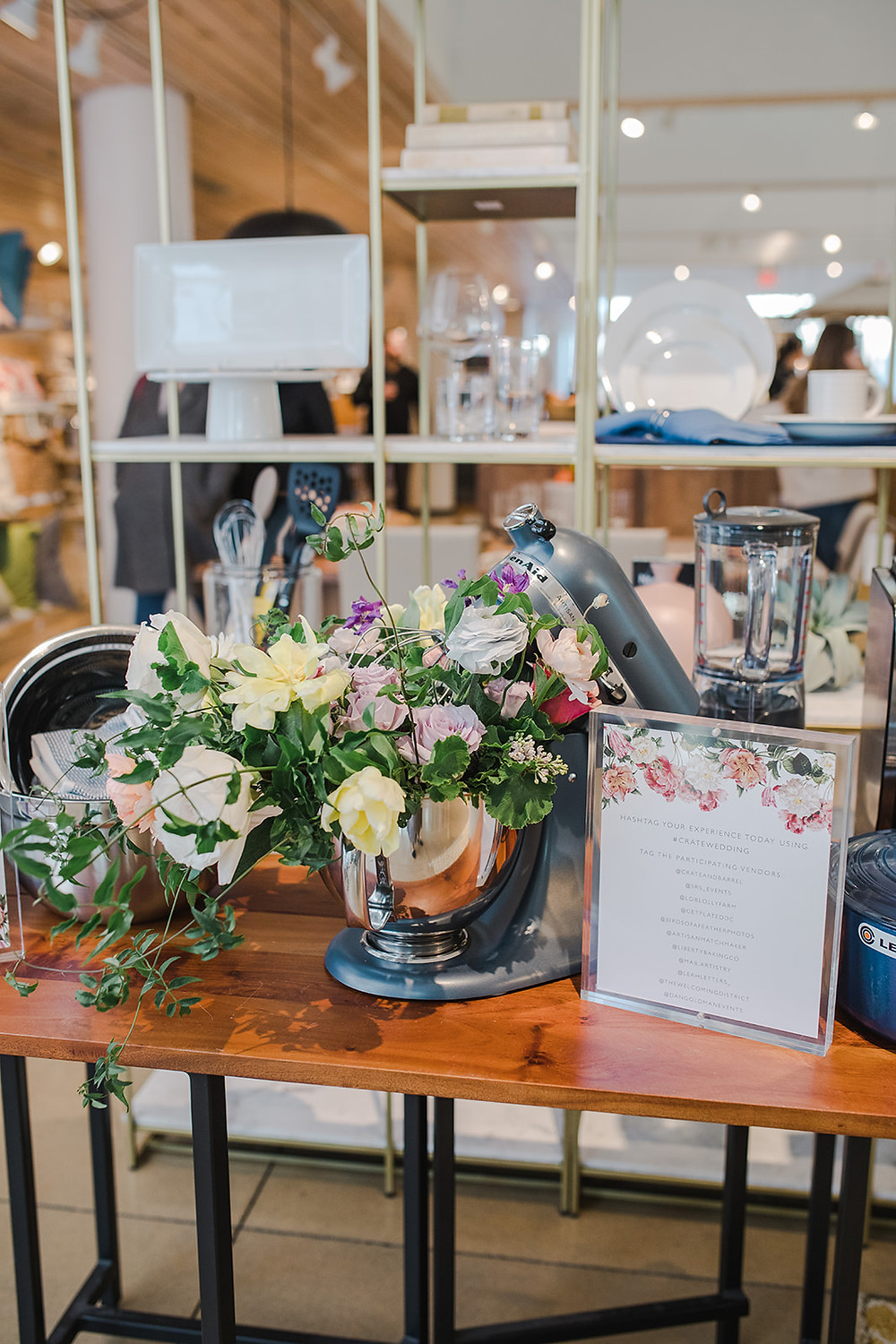 Crate and Barrel Private Registry Event