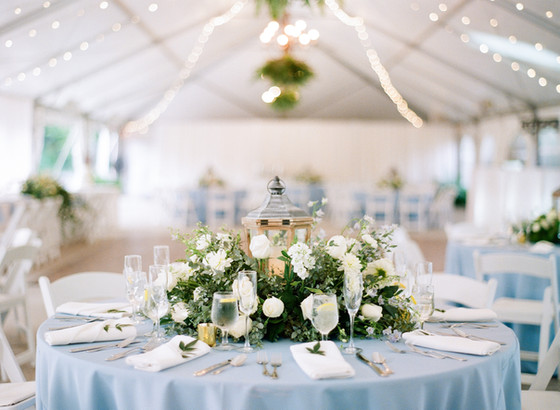 Greenery and Blues Tented Wedding