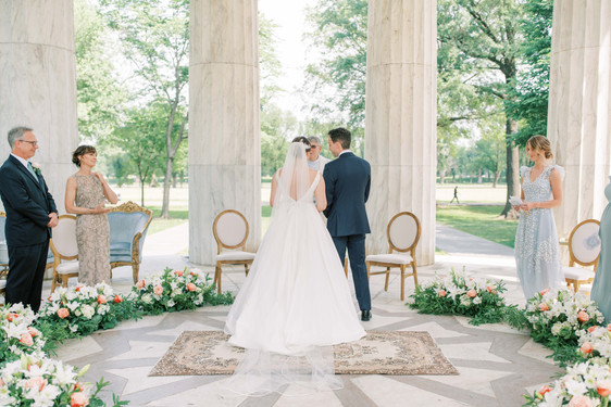 Intimate DC War Memorial Spring Wedding