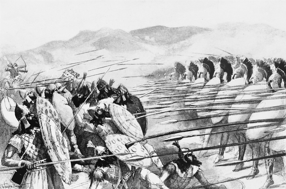 19th century illustration of the Battle of Plataea