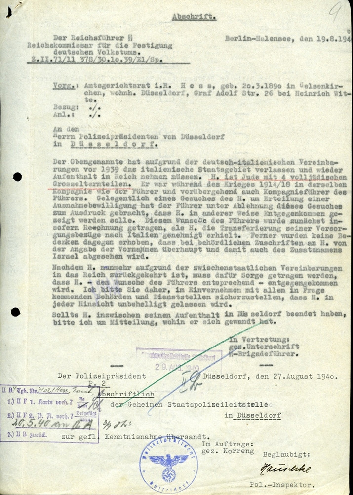 letter drafted by Himmler