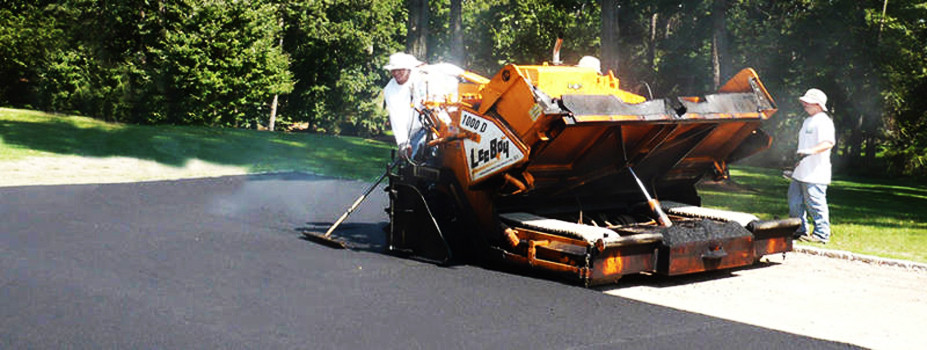 Paving a new driveway surface