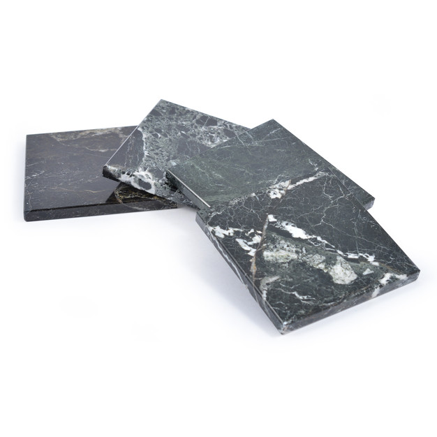 Square Black Marble Coasters