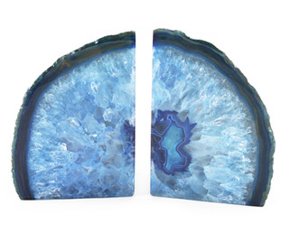 Agate Bookends Blue
