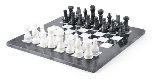Black and White Chess Set