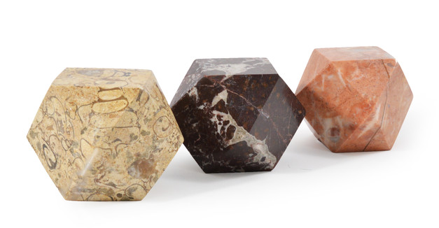 Set 3 Marble Paperweights