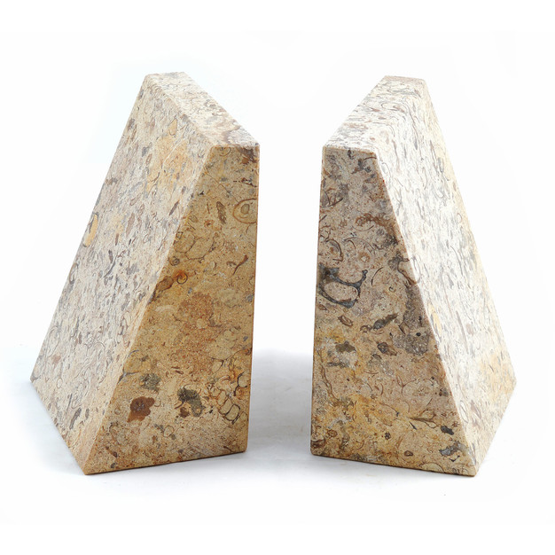 Wedge Bookends Fossilstone