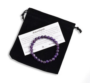 Amethyst Bracelet With Pouch and Card
