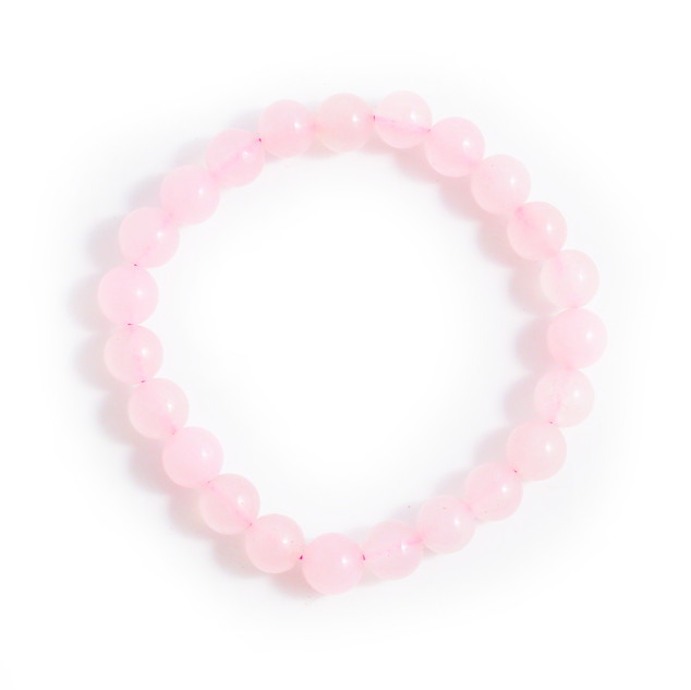 Rose Quartz Bracelet With Pouch and Card