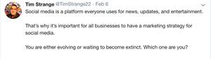 tweet from TimStrange22