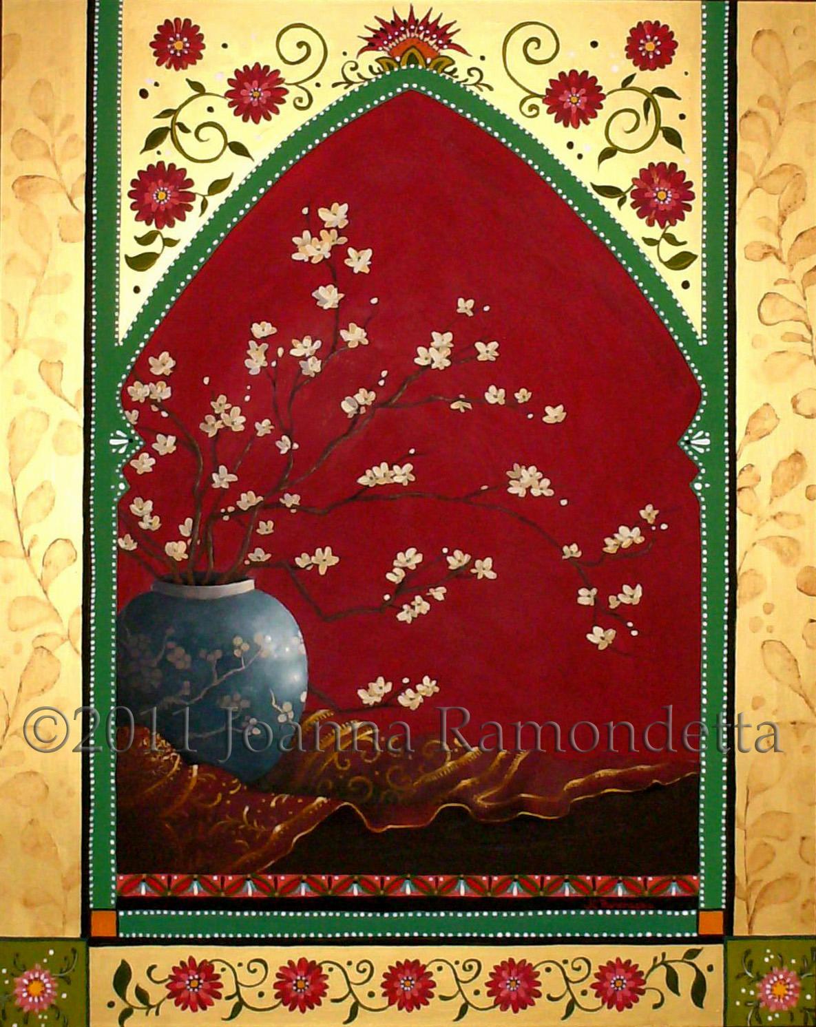 India Flowers in a Hawthorne Jar