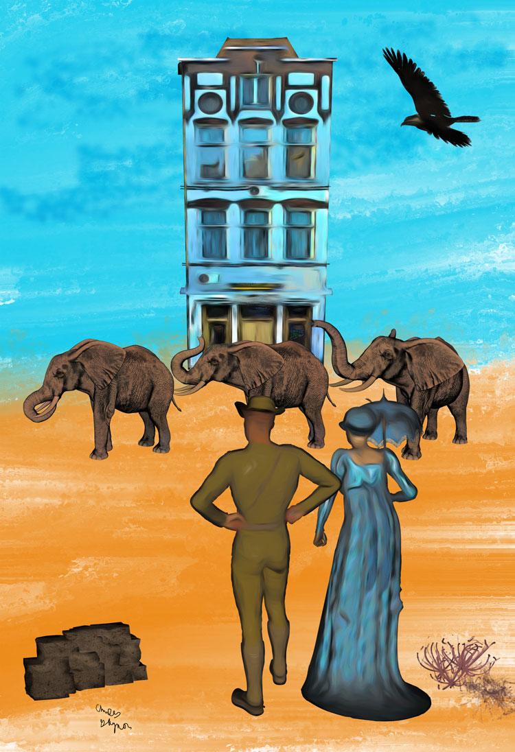 Elephant Scene