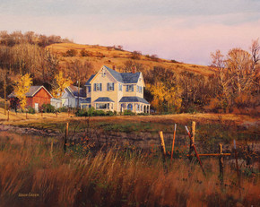 Hugh Greer - White House in Autumn