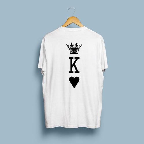 King Queen kártyás páros póló