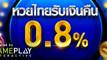 พิเศษรับเงินคืนทันที 0.8% หวยไทย เล่นง่าย จ่ายจริง