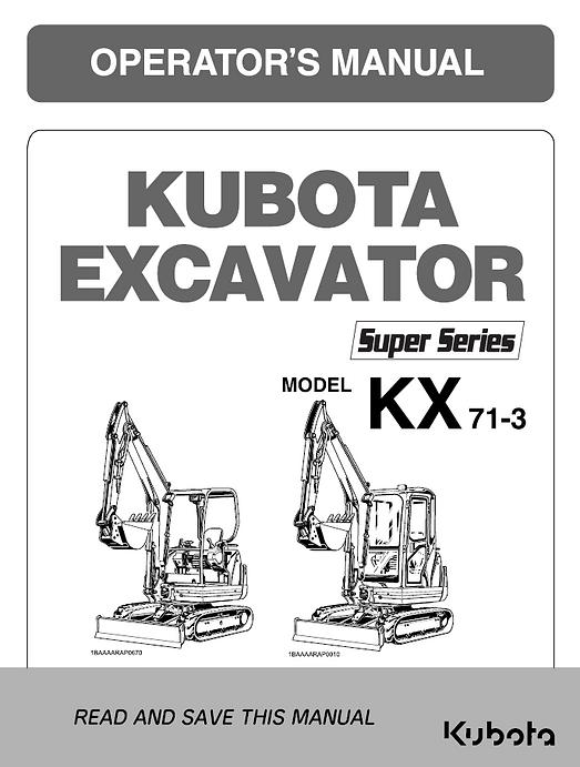 Kubota KX71-3S