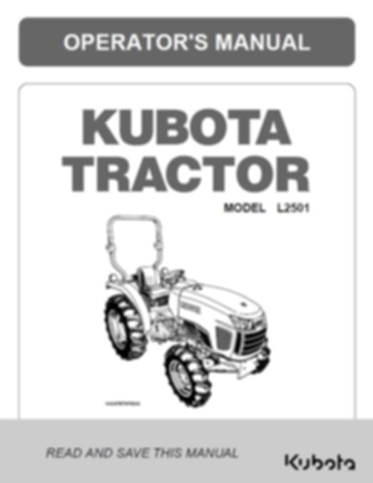 Kubota L2501