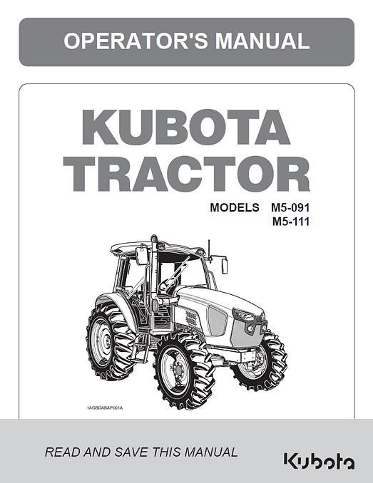 Kubota M5-091, M5-111 CAB