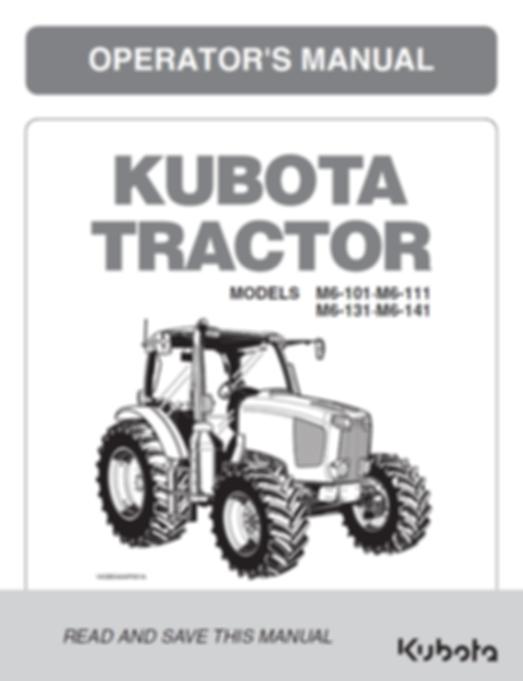 Kubota M6-101, M6-111 M6-131, M6-141