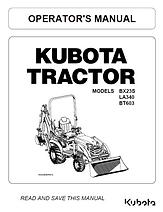 Kubota BX23S, LA340, BT603