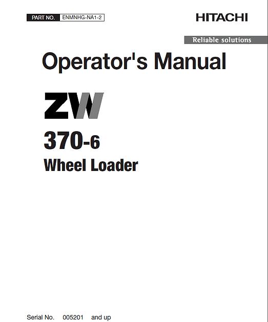 Hitachi ZW370-6