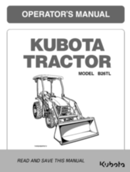 Kubota B26TL