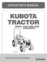 Kubota B2320, B2620, B2920, B2320N