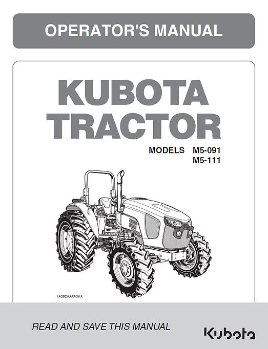 Kubota M5-091, M5-111 ROPS
