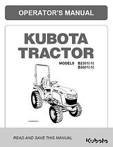 Kubota B2301, B2601, B2301-1, B2601-1