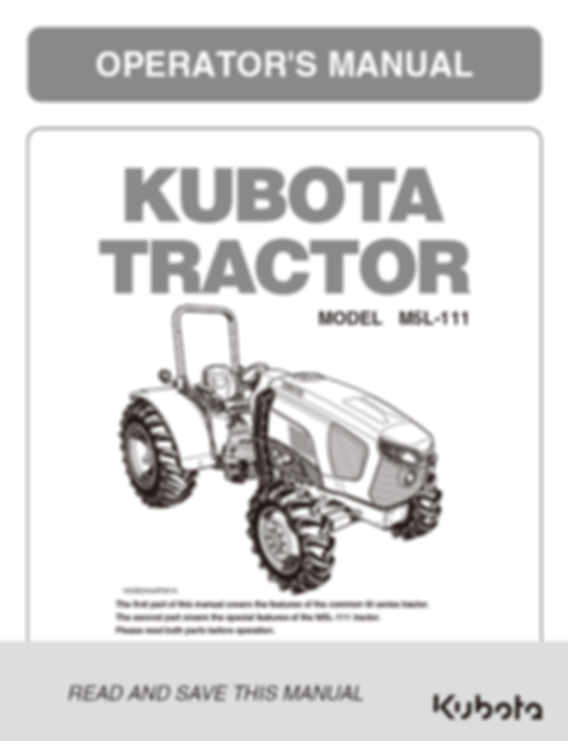 Kubota M5L-111