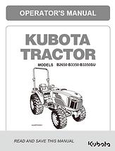 Kubota B2650, B3350, B3350SU