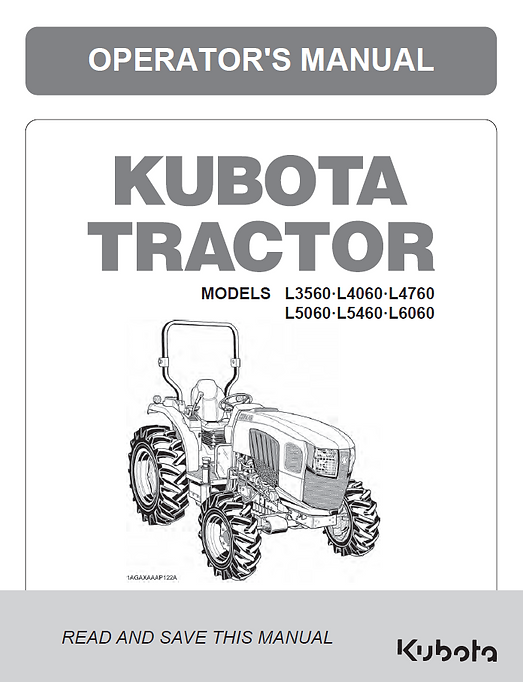 Kubota L3560, L4060, L4760, L5060, L5460, L6060 ROPS