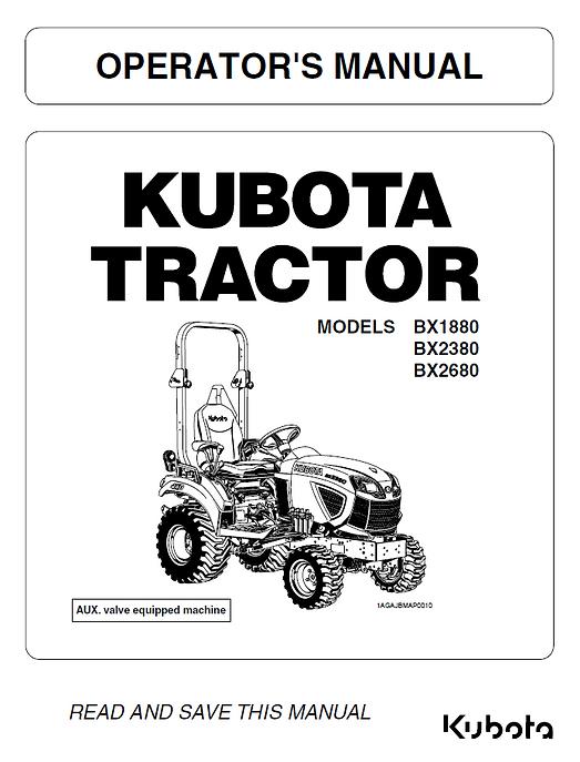Kubota BX1880, BX2380, BX2680