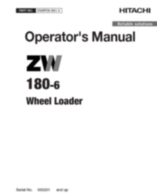Hitachi ZW140-6, ZW150-6, ZW150PL-6