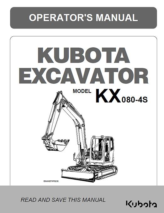 Kubota KX080-4S