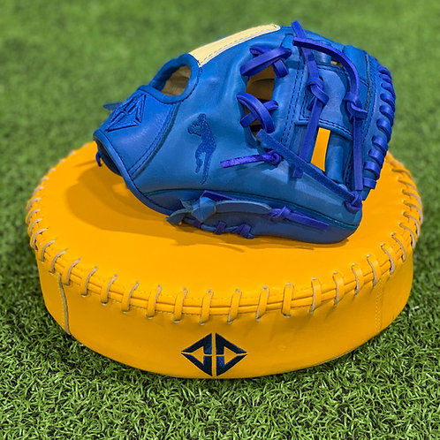 """Personalized DD Camel Leather 9.5"""" Trainer/Youth Glove"""