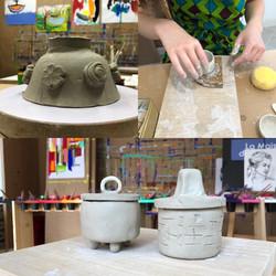 Séance de poterie