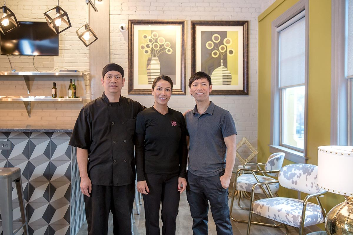 Cafe Mochi & VP Square Head Chef, Manager, and Owner. The Phams