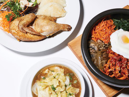 Cornish Hen, Hot & Sour Soup, and Korean Bibimbap