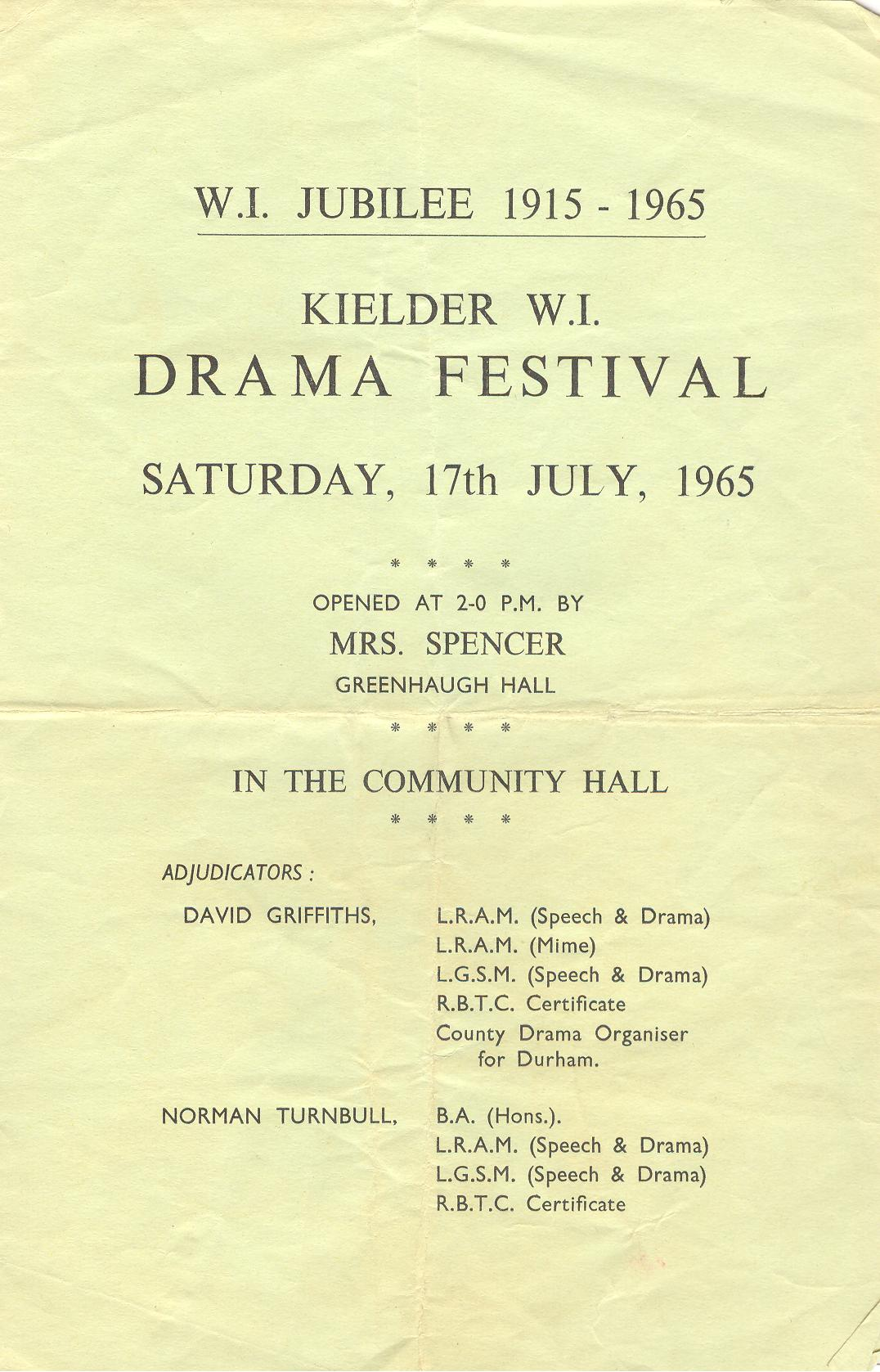 1965 Riding Mill Drama Club, Kielder Fes