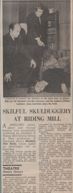 1973, Riding Mill Drama Club, Wanted One