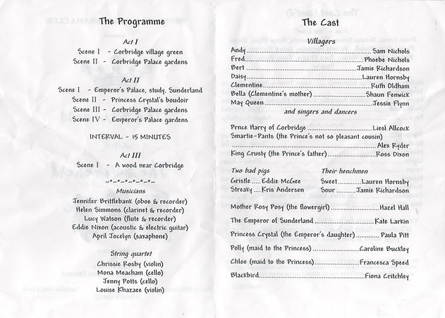 2001 Riding Mill Junior Drama Club, The