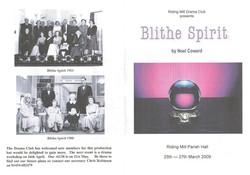 2009 Riding Mill Drama Club, Blithe Spir