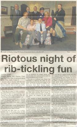 2003 Riding Mill Drama, Club Cash on Del