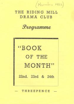1962, Riding Mill Drama Club, Book of th