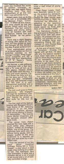 1997, Riding Mill Drama Club, Tynedale D