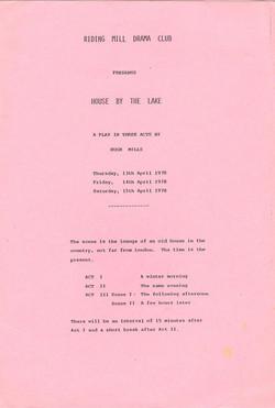 1978 Riding Mill Drama Club, House by th